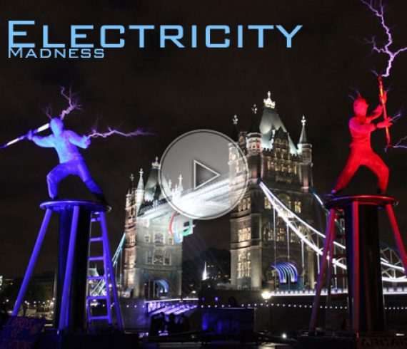 electricity madness, electricity performers, artistes électriques, artistes avec élélectricité