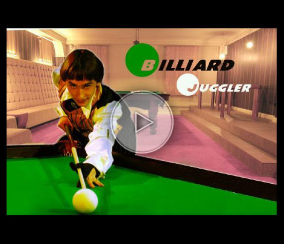 jongleur billard, billiard juggling, pool artist, pool performer