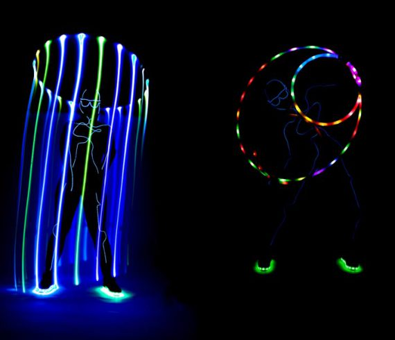 hula hoop, lighting hula hoop, light artist, lighting artist, hula artist, hula performer