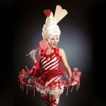 sweety waitress, canapé girls, canapé girl, candy girl, candy lady, serveuses surcrée, costumes colorés, bonbons, candy