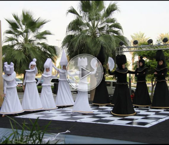 living chess, chess performers, chess performance, chess characters, chess animation
