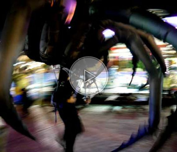 the giant spider, spider man, spider walk about, spider animation, fiant inflatable
