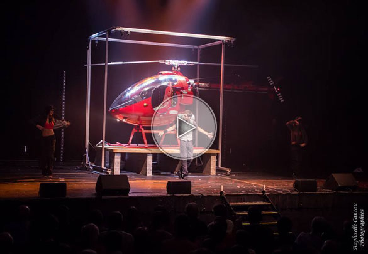 helicopter illusionist, illusionist, french illusionist, illusions, big illusions,
