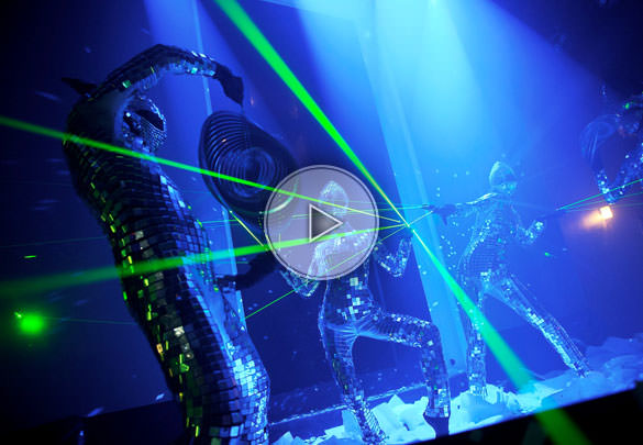 Laser mirrors troup dance others performers for Dance mirrors