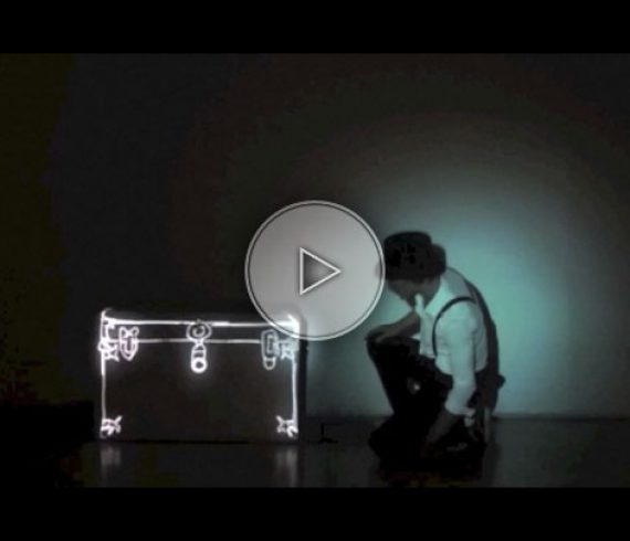 the magic box act, mapping, video mapping, light act, light show