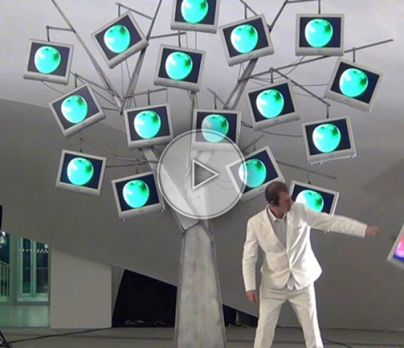 the digital tree, screens tree, LED screen tree, flat screen tree, television tree