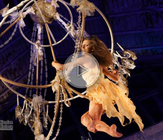 aerial chandelier, chandelier, act on a chandelier, chandelier performer, chandelier artist