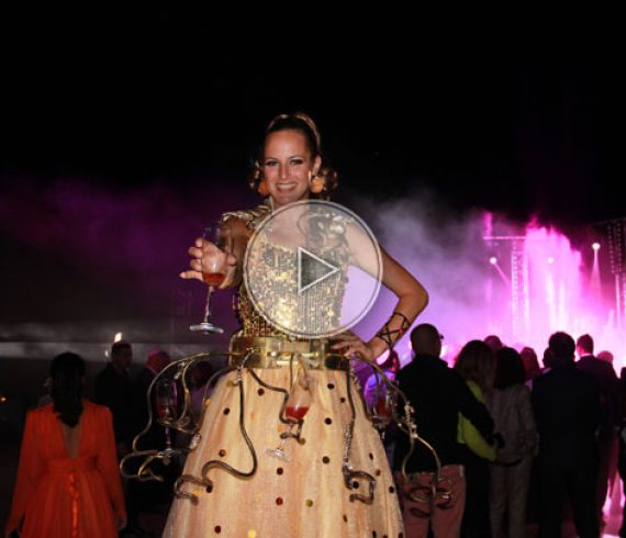 champagne goddess, champagne, stilt walker, champagne stilt, champagne costume, walk around