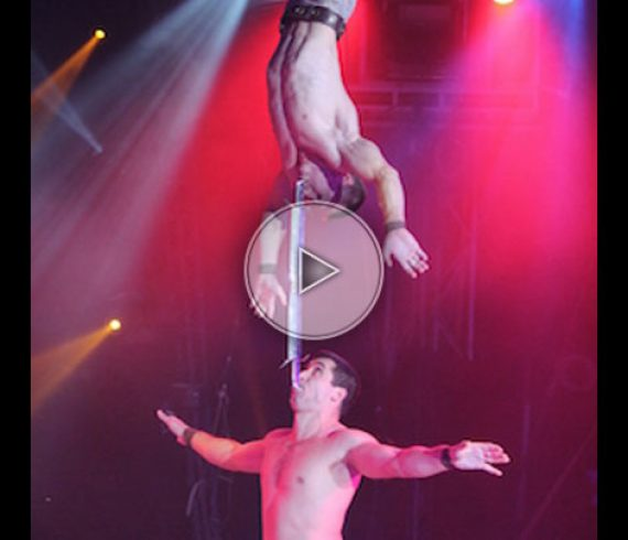 knife acrobatic duo, Hand to hand with knife, knives, knife, acrobatic duo