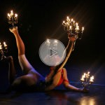fire balancing contortionist, contortionist, chandelier contortion, chandelier contortionist
