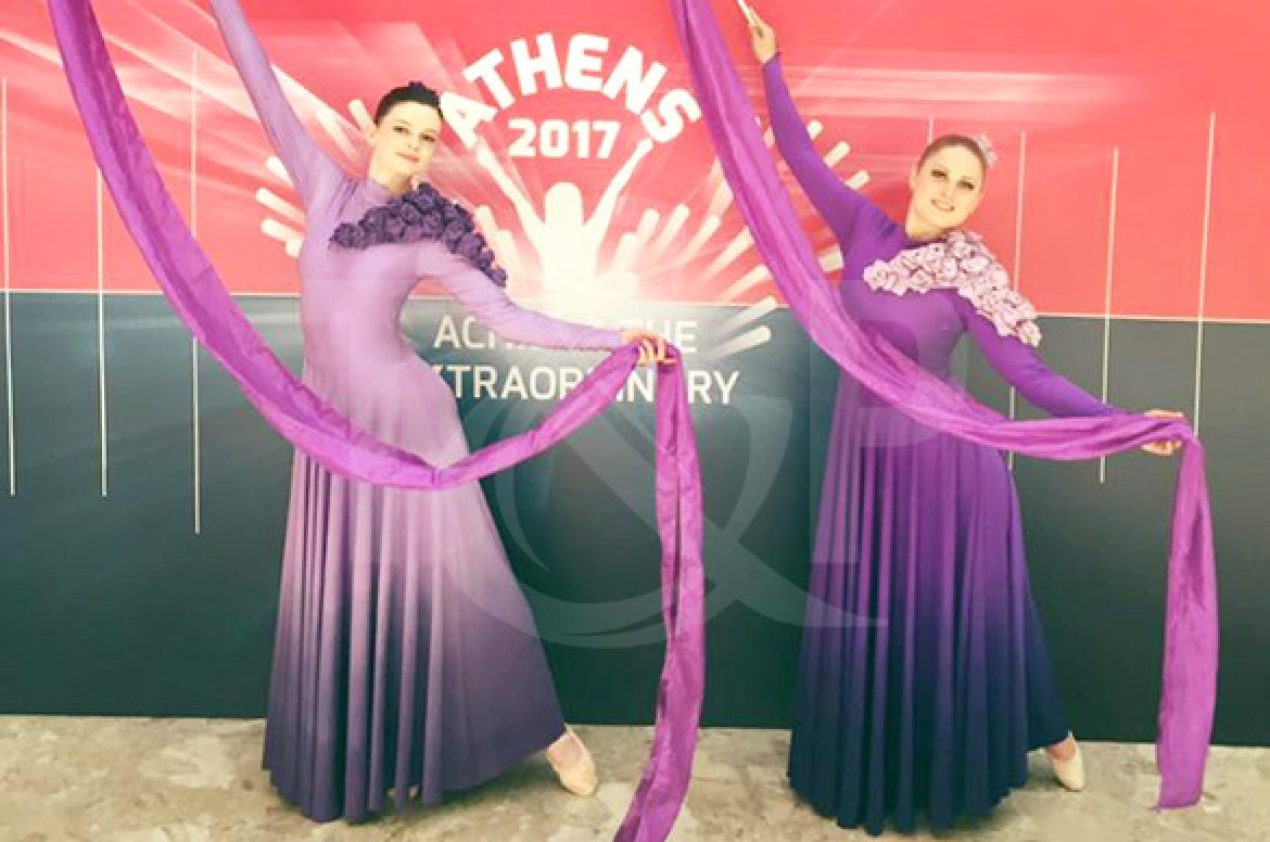 ribbon dancers, dance, dancers, ribbons, artistic dance, duo, dancing duo, event, show, athens, greece