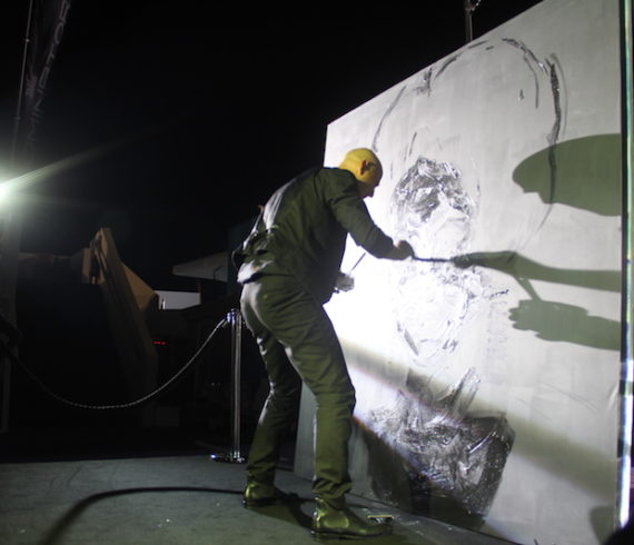 cannes speed painting, cannes yacht show, live painting, live painter, speed painting performance, painting performer