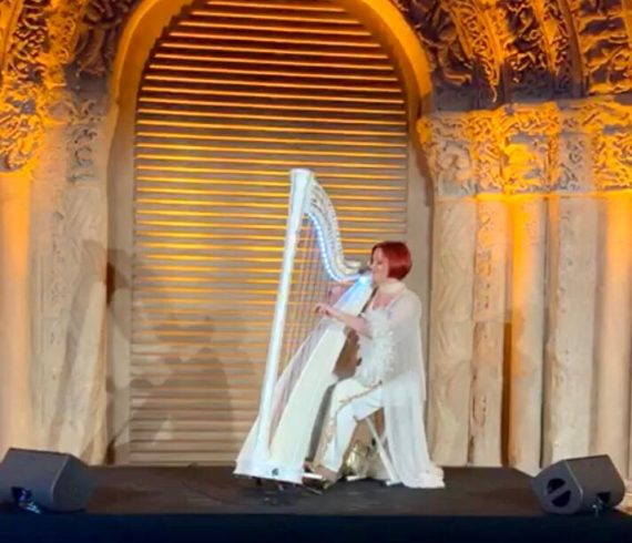 Harpist, harpist in paris, lighting harp, led harp, lighting harpist, led harpist, luminous harp, harp in paris, harpist led