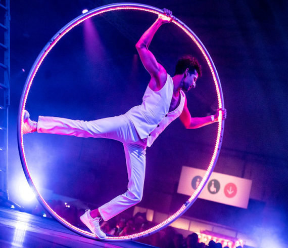 fire cyr wheel, LED cyr wheel, Fire and LED wheel cyr, fire wheel act, LED wheel act