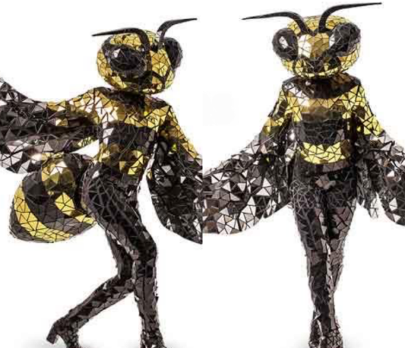 mirror characters, mirror personnages, mirror costumes, bees characters, bees dancers, bees show, bees act