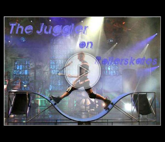 juggling on rollerblades, jongler sur rollerblade, movement, dynamic