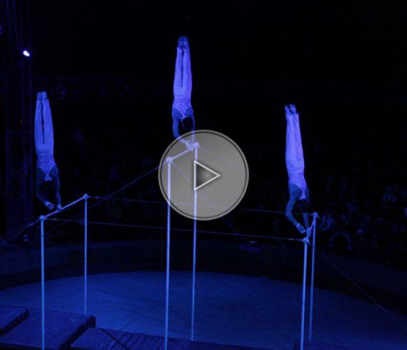 flying bars, horizontal bars, acrobatic act, barres horizontales, barres volantes, bars troup,