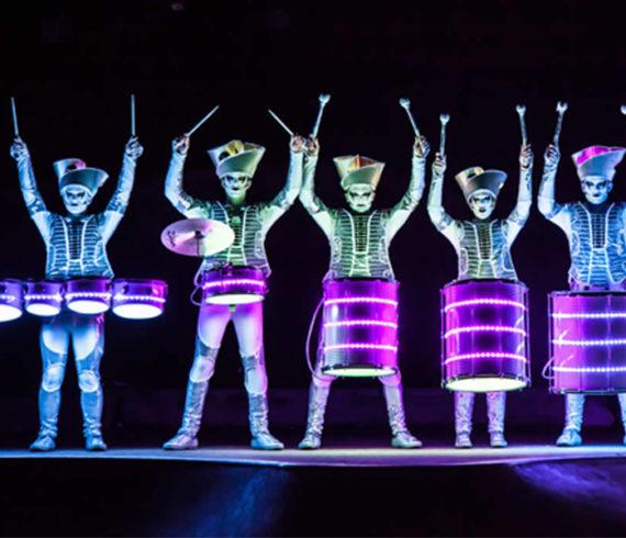 led parade, parade led, LED drums, LED drummers, tambours LED, percussionistes LED, percussion LED, lumière, light