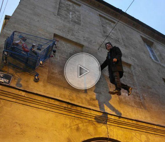 bizarre magic, gravity man, floating man, magician, street magic, street magician