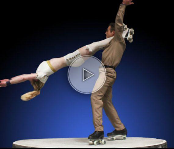 military skate duo, skating duo, skate duo, military act, skating performers, skating artists