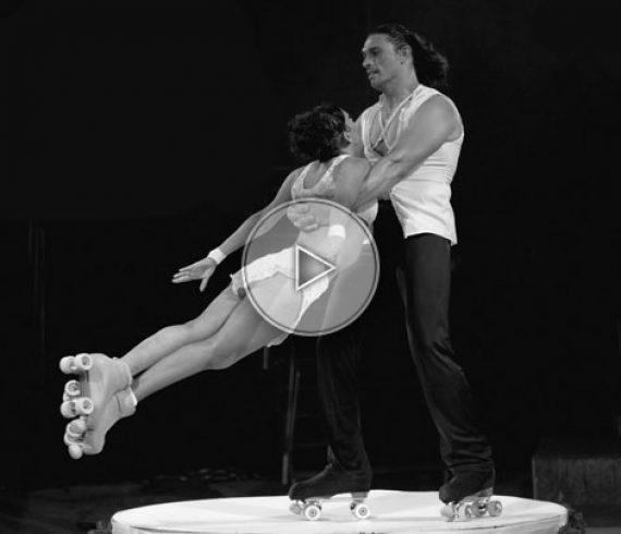 italian skate duo, italy skate duo, italian roller duo, skating act, skating show, skate performers