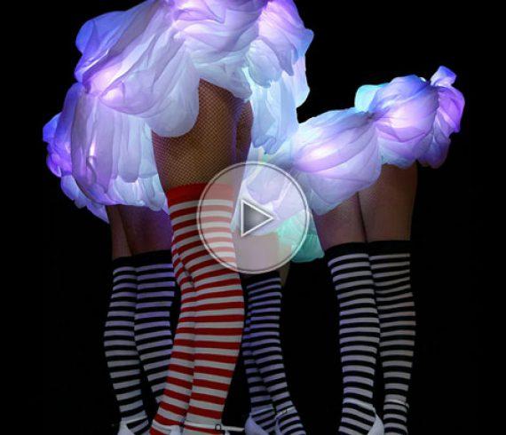 music LED, music LED costumes, LED dancers, dance LED, LED ballerina
