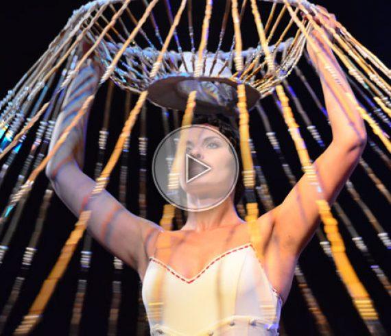 spinning dancer, dancing chandelier, solo dancer, dancer, special dress