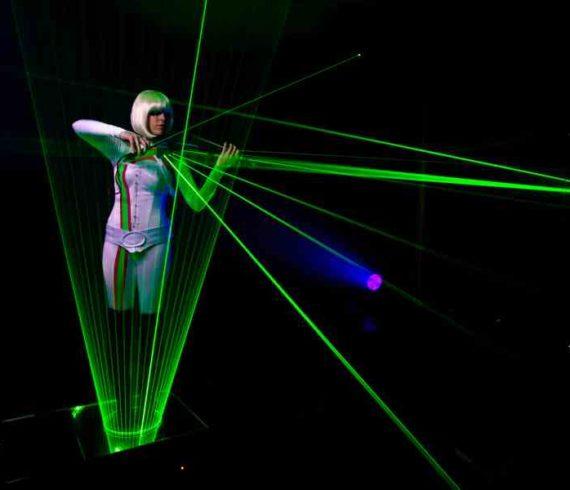 laser musician, laser violin, laser violinist, laser performer, laser artist, laser show, england