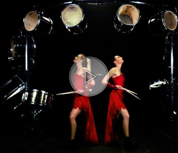 drumming ladies, drummers, drumming girls, girls on drummers, girls with drummers, drummers duo