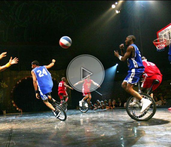 unicycle, unicycle troupe, unicycle sport troupe, unicycle acrobatic troupe, basketball