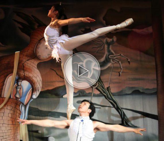 ballet acrobat, acrobat on shoulder, shouder ballerina, ballerina on shoulder