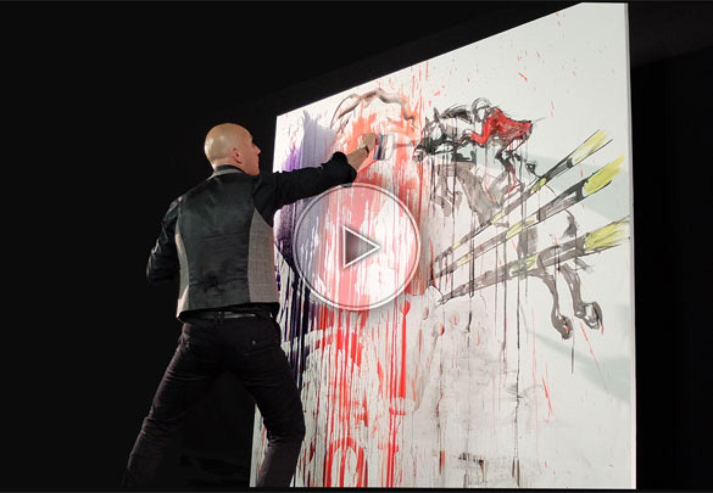 splash painter, splash painting, splash paint performer, painter performer, splash performer