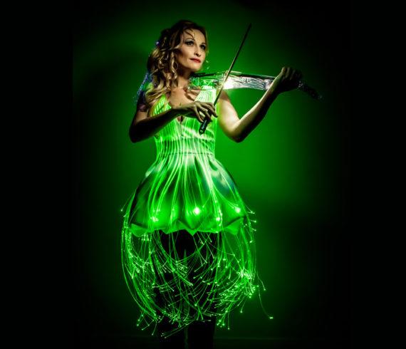 paris lighting violinist, paris violinist, lighting violinist, laser violinist, violin france, violin paris