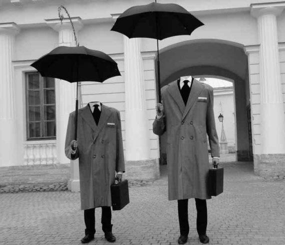 headless men, transparent men, men without heads, invisible men, walk around headless, headless animation