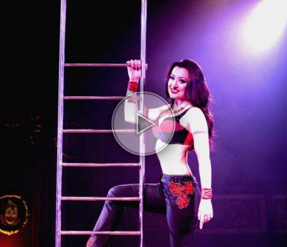 lady ladder, sexy ladder, sexy ladder, ladder artist, ladder performer