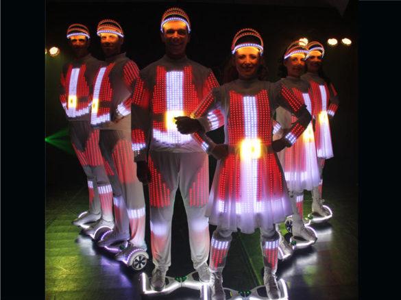 Dancing on hoverboard, Lighting dancers, hoverboards, Lighting hoverboards, Lighting and dance