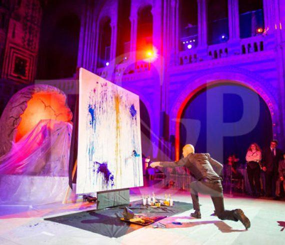 splash painting, splash painter, london, england, artist, speed painter, national history museum