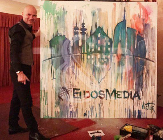 splash painting, speed painter, show, event, milan, italy, artist, splash performer, painter, painting