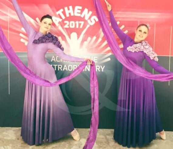 ribbon dancers, dance, dancers, ribbons, artistic dance, duo, dancing duo, event, show, athens, greece