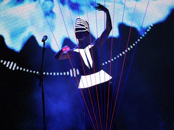laser harp, laser harp music, harp, harpist, music, musician, laser, technology, music technology, woman, woman harpist