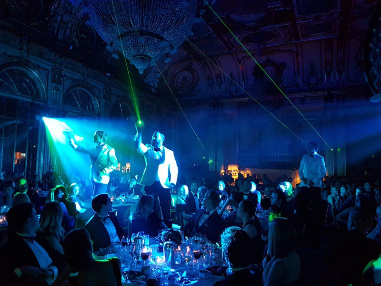 laser tuxedos, laser musicians, music laser, laser music, laser troupe, laser musicians troupe