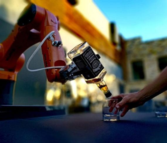 Robot, technology, barman, robot barman, robot bartender, robot show, robot act, robot event, technology event, futuristic event