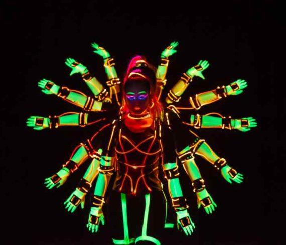 Tron dance, tron dancers, tron show, trot act, thousand hand led, iron thousand hands, thousand hands dance, led thousand hands, led dancers, led dance