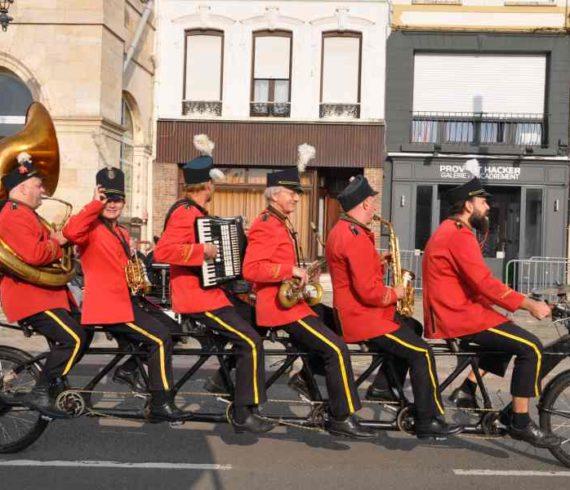 bike orchestra, bike show, bike parade, music bike, musical biking, parade, music parade, orchestra moving